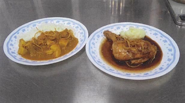左:おたねにんじんとリンゴのカレー 右:おたねにんじんと鶏のビール煮